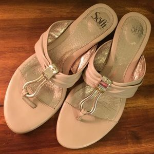 Nude/blush leather sandals